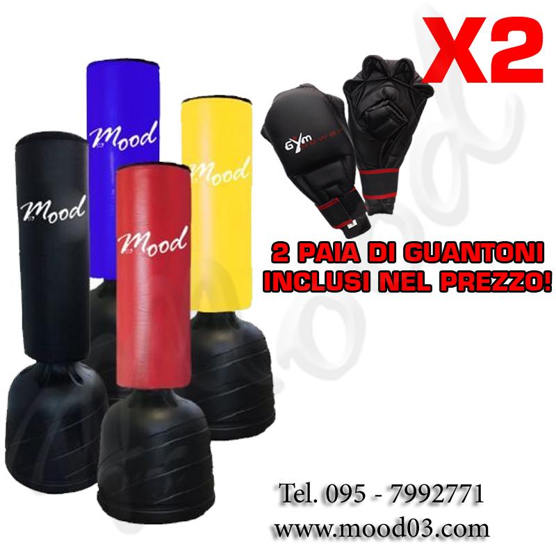 SACCO FITBOXE ALTEZZA REGOLABILE MAX 215cm BASE ANTISCIVOLO Cappuccio 110x40cm + 2 PAIA DI GUANTONI [RICHIEDI SCONTO]